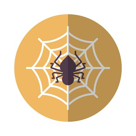 spiderweb halloween line style icon vector illustration design