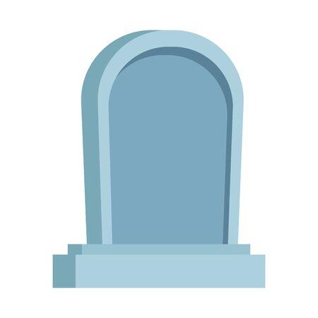 cemetery graveyard halloween isolated icon vector illustration design