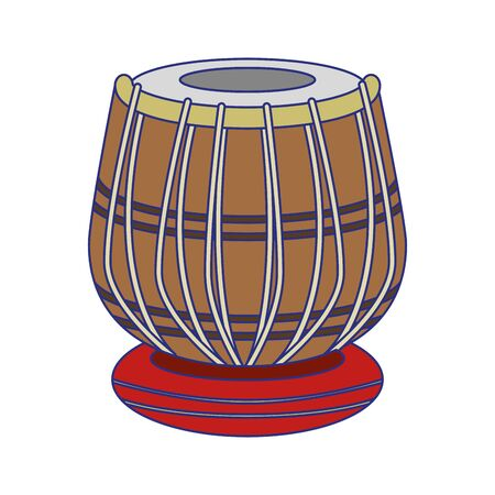 Indian drum table music instrument vector illustration graphic design Illustration