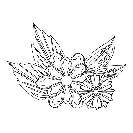 flower tropical spring red floral cartoon vector illustration graphic design Banque d'images - 130810241