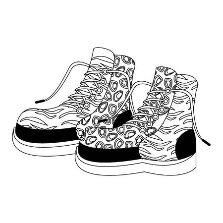 pop art retro vintage classic sexy cool trendy boots cartoon vector illustration graphic design Standard-Bild - 130638543