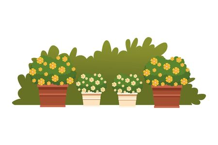 plant pot with flowers icon cartoon icon cartoon vector illustration graphic design 向量圖像