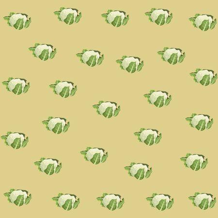 cauliflower icon cartoon background vector illustration graphic design