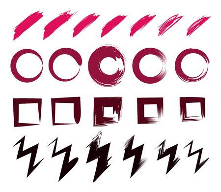 abstract paint brush stroke color strains cartoon vector illustration graphic design