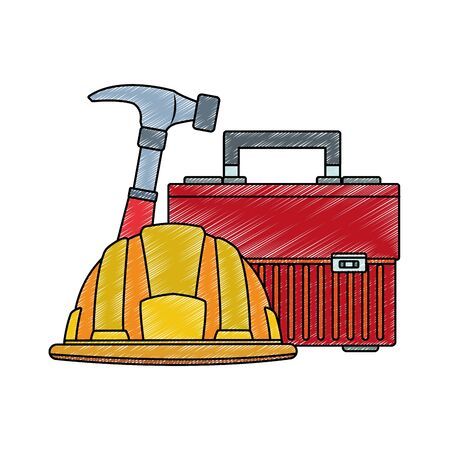 Set of construction tools vector illustration graphic design 向量圖像