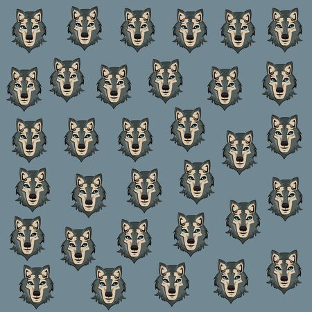 Wolf face cool sketch vector illustration graphic design