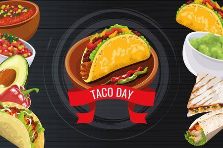 National Taco Day celebration , vector illustration