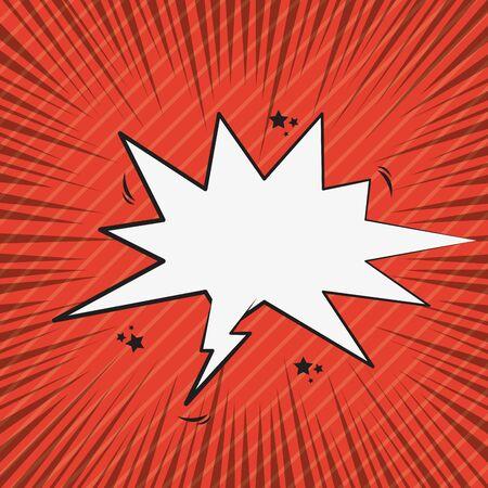 Pop art comic scream speech bubble on red background ,vector illustration. Çizim
