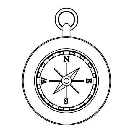 Navigation compass travel symbol isolated vector illustration graphic design Çizim