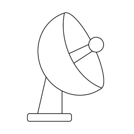 Telecommunication antenna symbol isolated vector illustration graphic design