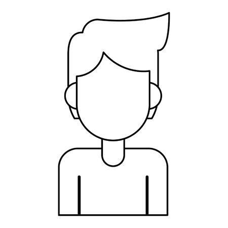 man avatar cartoon character portrait profile vector illustration graphic design Illustration