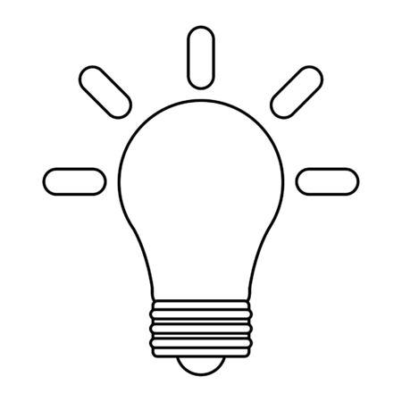 Bulb light symbol isolated vector illustration graphic design Ilustracja