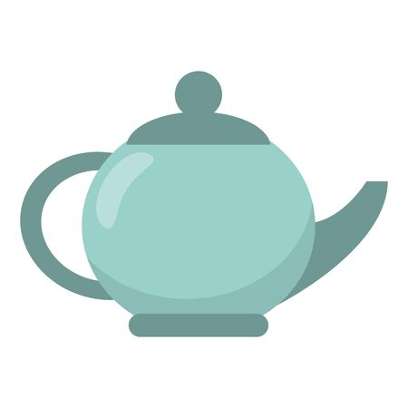 Tea porcelian pot isolated vector illustration graphic design Ilustrace