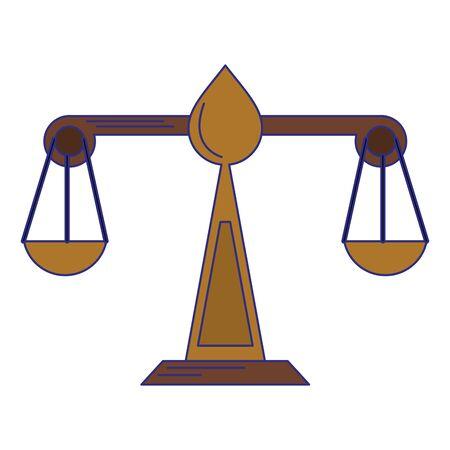 Justice balance symbol isolated vector illustration graphic design Ilustrace