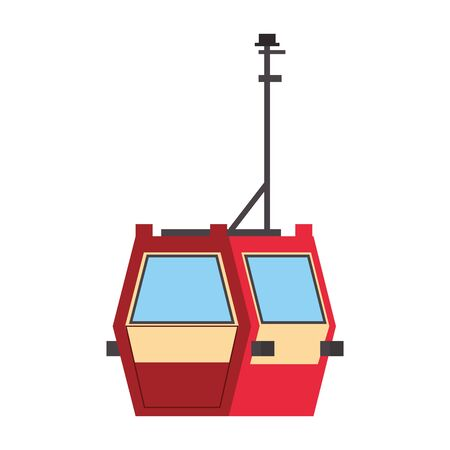 Cableway public transport isolated symbol vector illustration Illustration