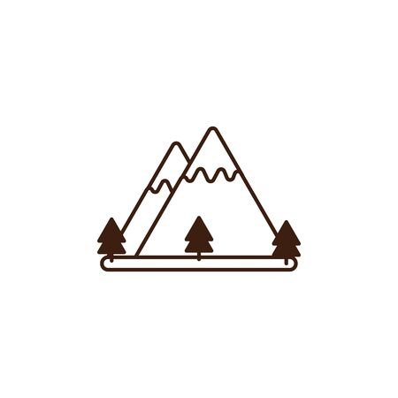 oktoberfest mountains snow celebration isolated icon vector illustration design