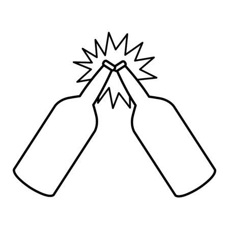 crumpled aluminum soda can icon cartoon in black and white vector illustration graphic design Ilustração