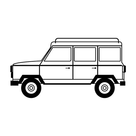 Vintage truck vehicle side view isolated vector illustration graphic design Banque d'images - 130927784