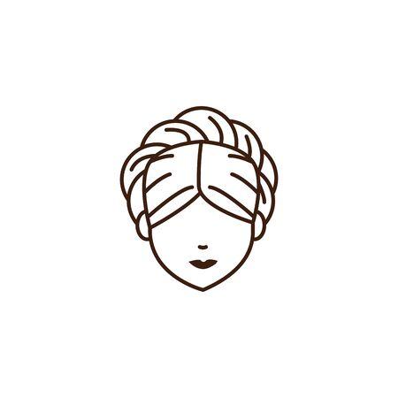 germany head woman oktoberfest celebration vector illustration design