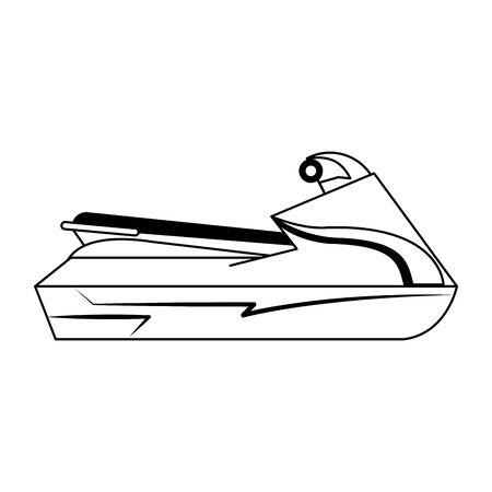 Jetski water sport motor bike isolated vector illustration graphic design