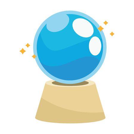 magician crystal ball halloween icon vector illustration design