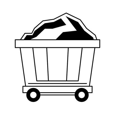 Minin carrier with carbon isolated symbol vector illustration graphic design Ilustração