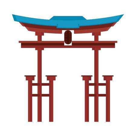 China entrance monument isolated symbol
