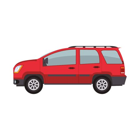 car suv icon over white background, vector illustration Illustration