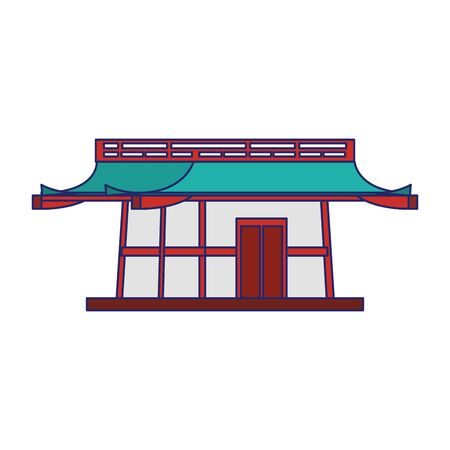 Asian temple icon over white background, vector illustration 向量圖像