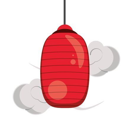 chinese lantern iconover white background, colorful design. vector illustration