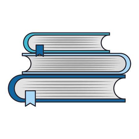 Stack of books over white background, vector illustration  イラスト・ベクター素材