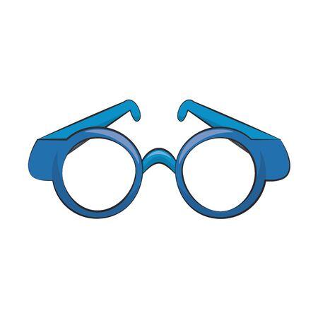 Glasses round frame lens symbol isolated vector illustration graphic design