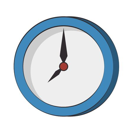 Wall clock round frame time symbol isolated vector illustration graphic design Ilustração