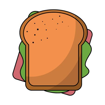Sandwich snack topview food isolated vector illustration graphic design