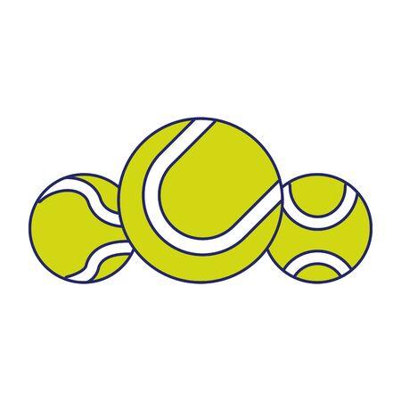 tennis balls icon over white background, vector illustration