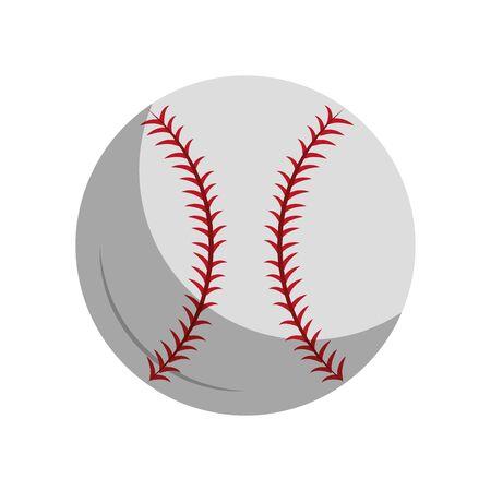 Diseño gráfico del ejemplo del vector de la historieta del icono de la bola de los elementos del equipo del béisbol