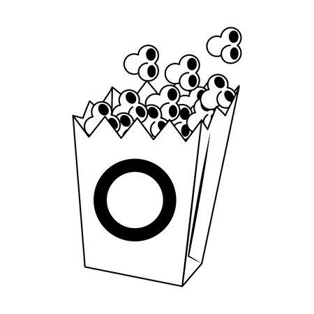 pop corn box icon over white background, vector illustration  イラスト・ベクター素材