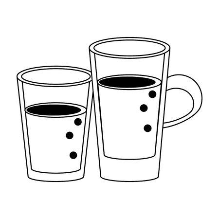 healthy drink juice nature glasses cartoon vector illustration graphic design 矢量图像