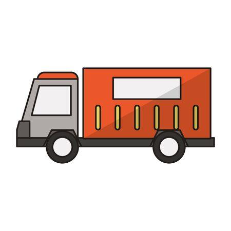 Cargo truck vehicle sideview symbol vector illustration graphic design Illustration