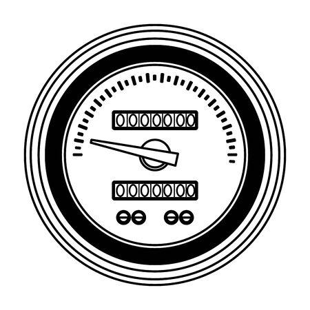 car service part speedometer cartoon vector illustration graphic design Stok Fotoğraf - 131215323