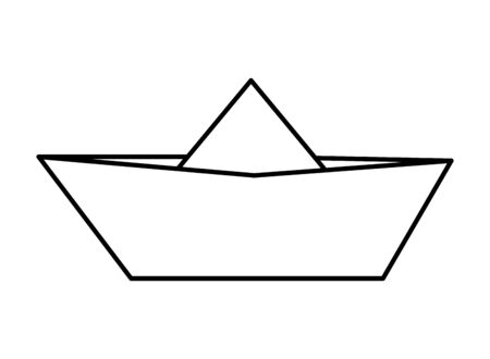 Paper boat craft isolated cartoon symbol ,vector illustration graphic design.