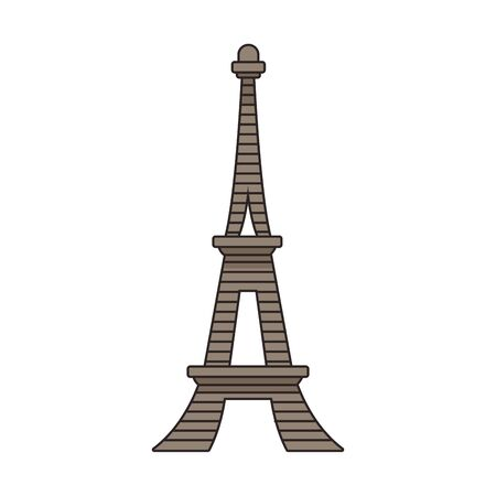 eiffel tower icon over white background, vector illustration Ilustracja