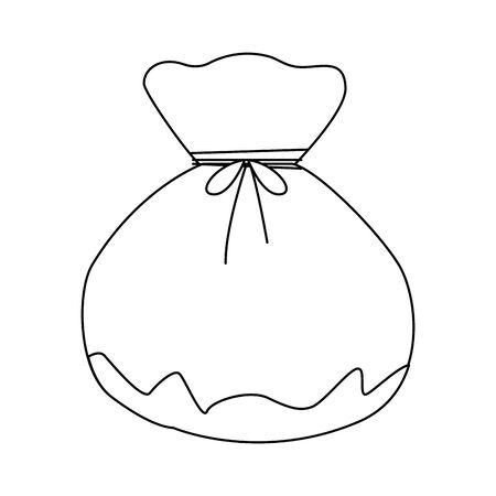 oriental lucky bag icon over white background, flat design, vector illustration Illustration