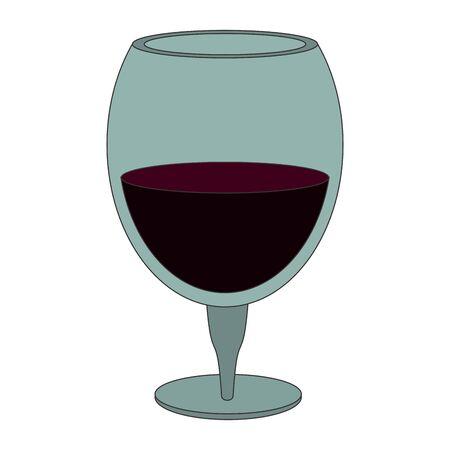 wine glass icon over white background, flat design, vector illustration 일러스트