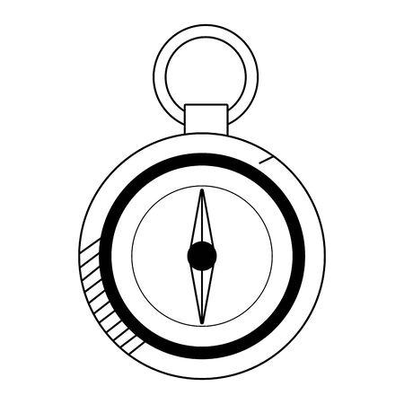 compass utensil icon over white background, vector illustration