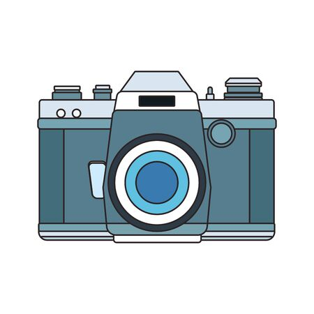 photographic camera icon over white background, colorful design. vector illustration