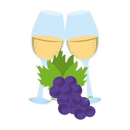 wineglass icon over white background, vector illustration