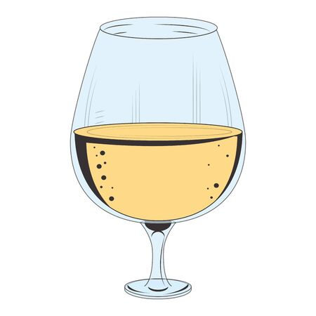 wine glass icon over white background, vector illustration