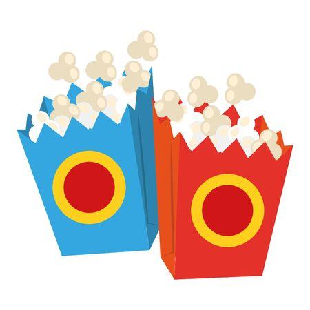 pop corn boxes over white background, vector illustration