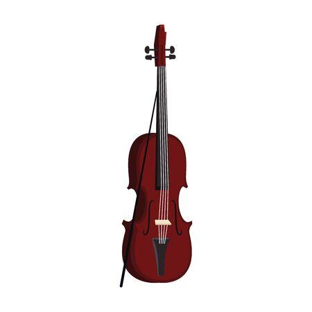 Violine-Instrument-Symbol auf weißem Hintergrund, Vektor-Illustration